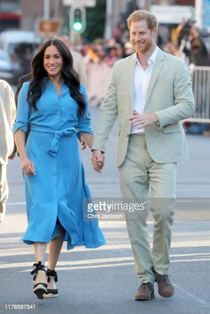 Meghan Duchess of Sussex and Prince Harry Duke of Sussex visit the District 6 Museum and Homecoming Centre during their royal tour of South Africa on...