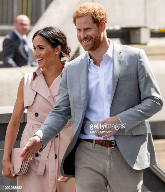 Prince Harry Duke of Sussex visits The Nelson Mandela Centenary Exhibition at the Southbank Centre on July 17 2018 in London England The exhibition...