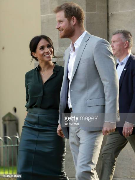 Meghan, Duchess of Sussex and Prince Harry, Duke of Sussex visit the Pavilion Building in Brighton during an official visit to Sussex on October 3,...