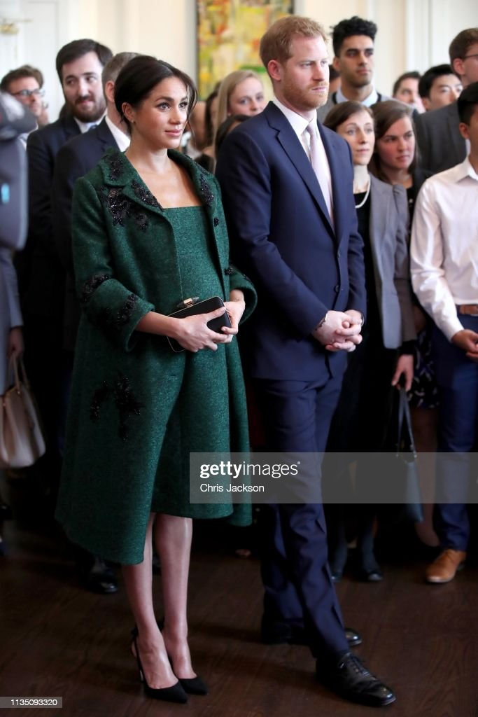 The Duke And Duchess Of Sussex Attend A Commonwealth Day Youth Event At Canada House : Nachrichtenfoto