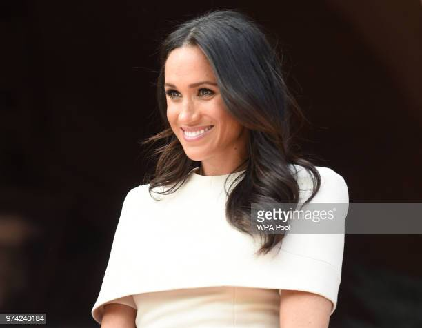 Meghan Duchess of Sussex and Queen Elizabeth II visit Chester Town Hall on June 14 2018 in Chester England Meghan Markle married Prince Harry last...