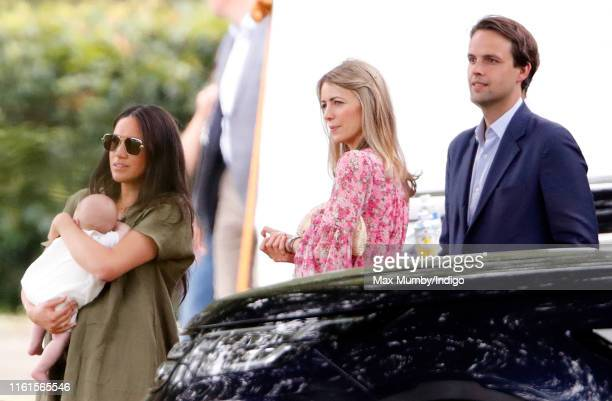 Meghan Duchess of Sussex Archie Harrison MountbattenWindsor Anneke Gilkes and Charlie Gilkes attend the King Power Royal Charity Polo Match in which...