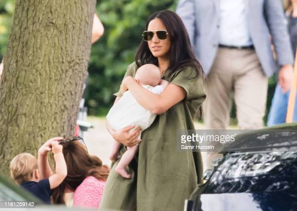 Meghan Duchess of Sussex Archie Harrison MountbattenWindsor Catherine Duchess of Cambridge and Prince Louis attend The King Power Royal Charity Polo...