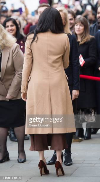 Meghan Duchess of Sussex arrives at Canada House on January 07 2020 in London England