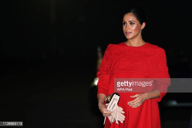Meghan Duchess of Sussex arrives at Casablanca Airport on February 23 2019 in Casablanca Morocco