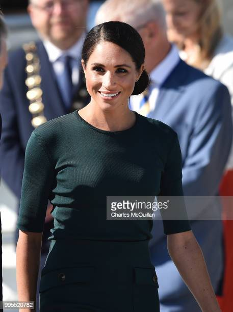 Meghan Duchess of Sussex arrives at Dublin city airport on an official two day royal visit to Ireland on July 10 2018 in Dublin Ireland It is the...