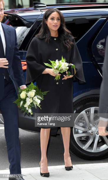 Meghan Duchess of Sussex arrives at New Zealand House to sign the book of condolence after the recent terror attack which saw at least 50 people...