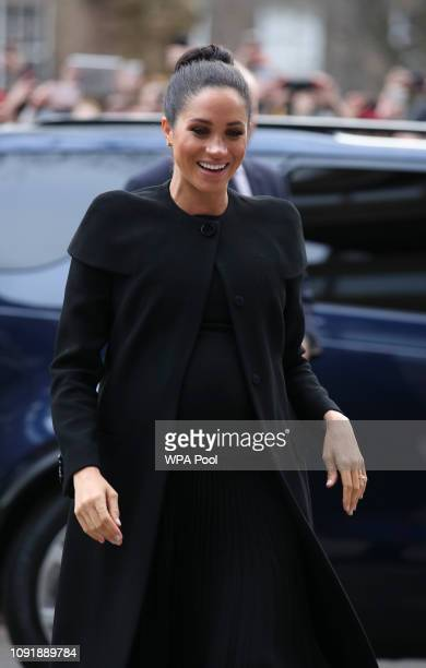 Meghan Duchess of Sussex arrives at the Association of Commonwealth Universities at University Of London on January 31 2019 in London England In her...