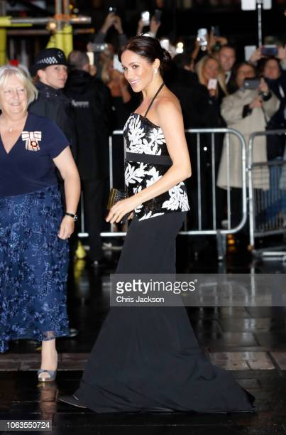 Meghan, Duchess of Sussex arrives at The Royal Variety Performance 2018 at London Palladium on November 19, 2018 in London, England.
