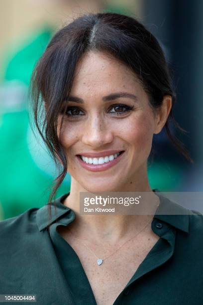 Meghan, Duchess of Sussex arrives at the University of Chichester's Engineering and Digital Technology Park during an official visit to West Sussex...
