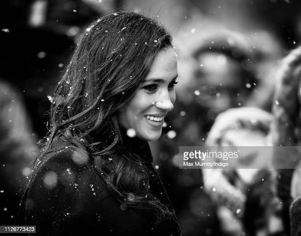 Meghan Duchess of Sussex arrives for a visit to the Bristol Old Vic on February 1 2019 in Bristol England