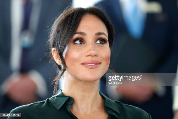 Meghan, Duchess of Sussex arrives for an engagement at University of Chichester Tech Park during an official visit to Sussex on October 3, 2018 in...