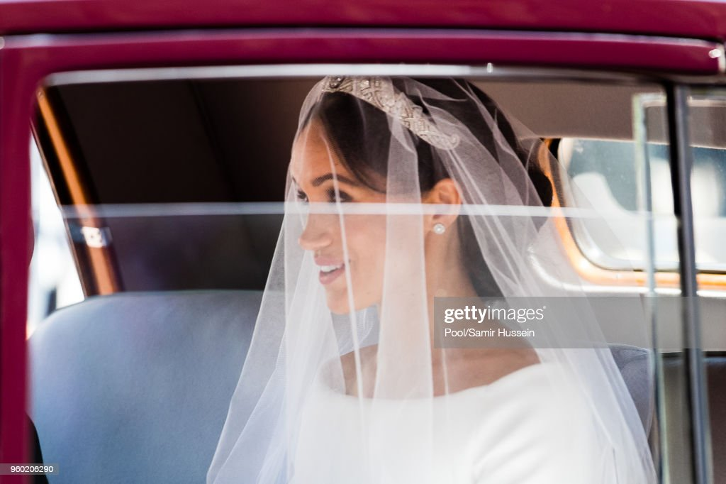 Meghan, Duchess of Sussex arrives for the wedding of Prince Harry to Ms Meghan Markle at St George's Chapel, Windsor Castle on May 19, 2018 in Windsor, England. Prince Henry Charles Albert David of Wales marries Ms. Meghan Markle in a service at St George's Chapel inside the grounds of Windsor Castle. Among the guests were 2200 members of the public, the royal family and Ms. Markle's Mother Doria Ragland.
