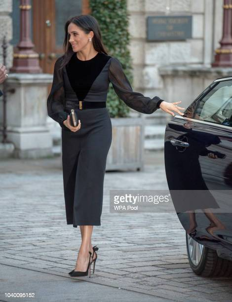 Meghan Duchess of Sussex arrives to open 'Oceania' at Royal Academy of Arts on September 25 2018 in London England 'Oceania' is the firstever major...