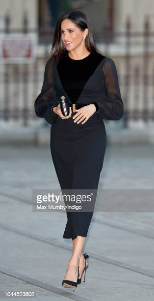 Meghan, Duchess of Sussex arrives to open 'Oceania' at the Royal Academy of Arts on September 25, 2018 in London, England. 'Oceania' is the...