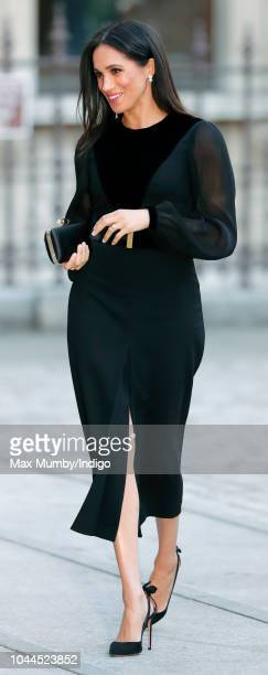Meghan Duchess of Sussex arrives to open 'Oceania' at the Royal Academy of Arts on September 25 2018 in London England 'Oceania' is the firstever...