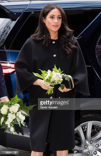 Meghan Duchess of Sussex arrives to sign a book of condolence at New Zealand House on March 19 2019 in London England following the recent terror...