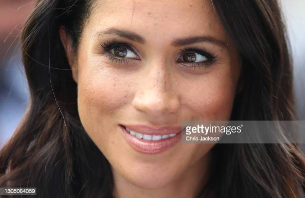 Meghan, Duchess of Sussex at Croke Park, home of Ireland's largest sporting organization, the Gaelic Athletic Association during her visit with...