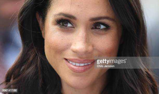 Meghan Duchess of Sussex at Croke Park home of Ireland's largest sporting organisation the Gaelic Athletic Association during her visit with Prince...
