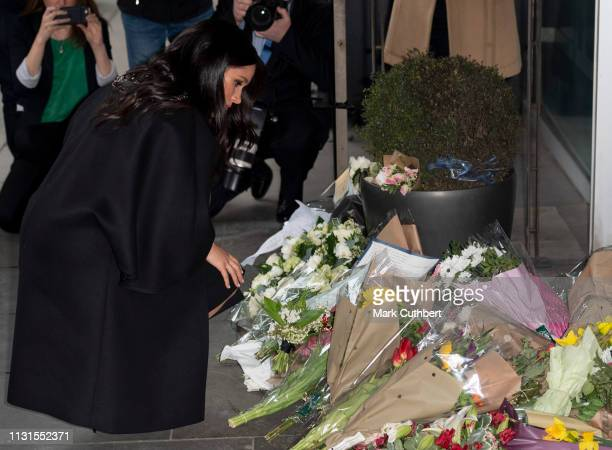 Meghan Duchess of Sussex at New Zealand House on March 19 2019 in London England The visit was following the recent terror attack which saw at least...