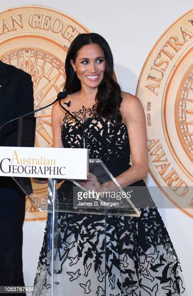Meghan Duchess of Sussex at the Australian Geographic Society Awards for excellence in adventure and conservation on October 26 2018 in Sydney...