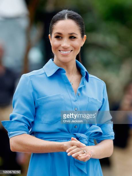 Meghan Duchess of Sussex at Tupou College on October 26 2018 in Nuku'alofa Tonga The Duke and Duchess of Sussex are on their official 16day Autumn...