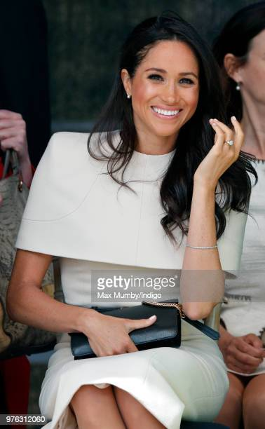 Meghan, Duchess of Sussex attends a ceremony to open the new Mersey Gateway Bridge on June 14, 2018 in Widnes, England. Meghan Markle married Prince...