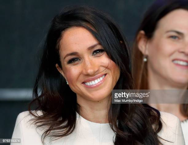 Meghan Duchess of Sussex attends a ceremony to open the new Mersey Gateway Bridge on June 14 2018 in Widnes England Meghan Markle married Prince...