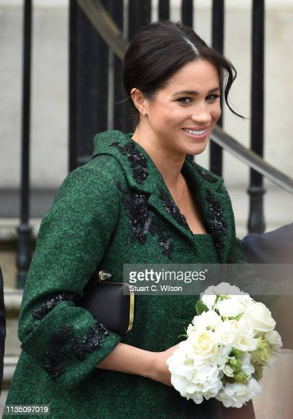 Meghan Duchess Of Sussex attends a Commonwealth Day Youth Event at Canada House on March 11 2019 in London England The event will showcased and...