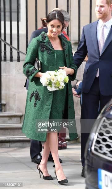Meghan Duchess Of Sussex attends a Commonwealth Day Youth Event at Canada House on March 11 2019 in London England The event will showcase and...