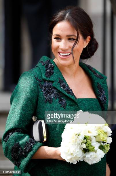 Meghan Duchess of Sussex attends a Commonwealth Day Youth Event at Canada House on March 11 2019 in London England The event showcased and celebrated...