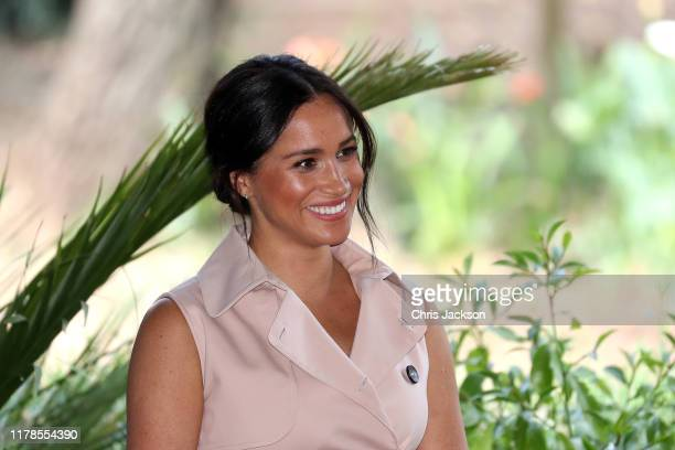 Meghan Duchess of Sussex attends a Creative Industries and Business Reception on October 02 2019 in Johannesburg South Africa