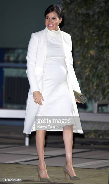 Meghan Duchess of Sussex attends a Gala Performance Of The Wider Earth at Natural History Museum on February 12 2019 in London England
