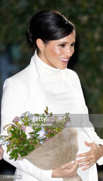 Meghan Duchess of Sussex attends a gala performance of 'The Wider Earth' in support of the Queen's Commonwealth Trust the Queen's Commonwealth Canopy...