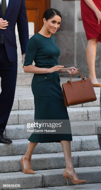 Meghan Duchess of Sussex attends a meeting at the Taoiseach during their visit to Ireland on July 11 2018 in Dublin Ireland
