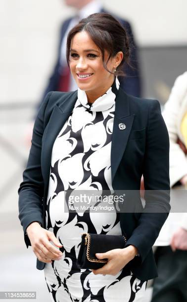 Meghan, Duchess of Sussex attends a panel discussion, convened by The Queen's Commonwealth Trust, to mark International Women's Day at King's College...