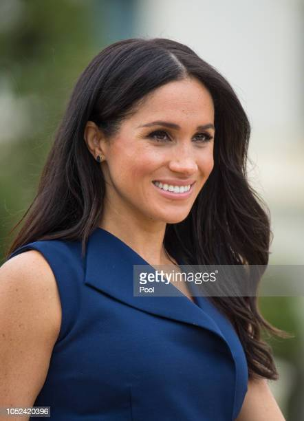 Meghan Duchess of Sussex attends a reception at Government House on October 18 2018 in Melbourne Australia The Duke and Duchess of Sussex are on...