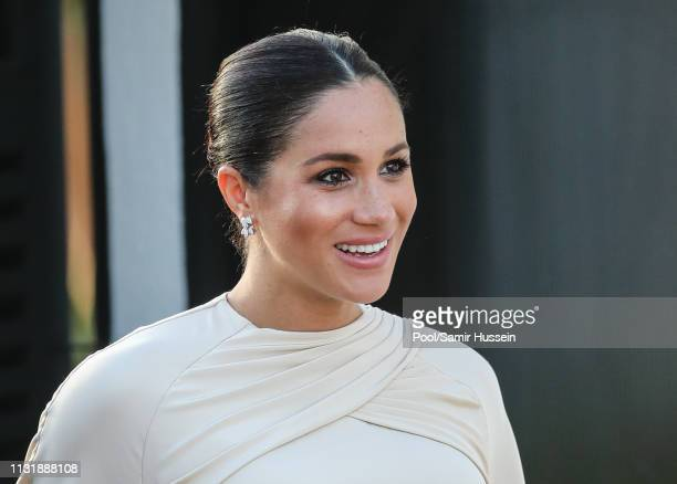 Meghan Duchess of Sussex attends a reception hosted by the British Ambassador to Morocco at the British Residence during the second day of her tour...