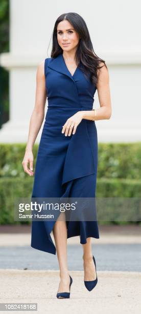 Meghan Duchess of Sussex attends a Reception hosted by the Honourable Linda Dessau AC Governor of Victoria and Mr Anthony Howard QC at Government...