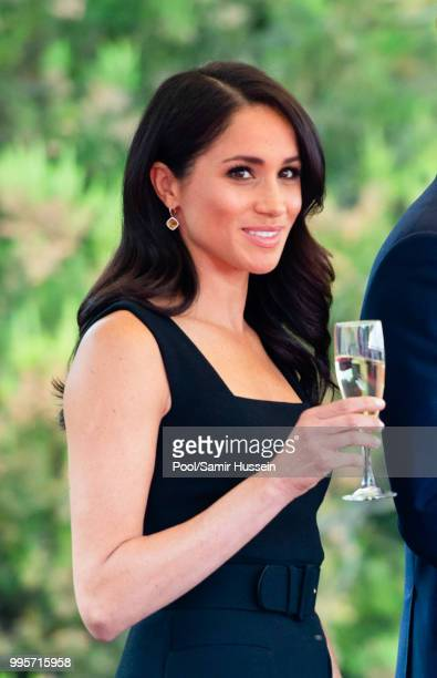 Meghan Duchess of Sussex attends a Summer Party at the British Ambassador's residence at Glencairn House during their visit to Ireland on July 10...