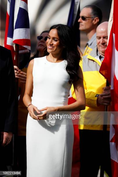 Meghan Duchess of Sussex attends a Welcome Event at Admiralty House on October 16 2018 in Sydney Australia The Duke and Duchess of Sussex are on...