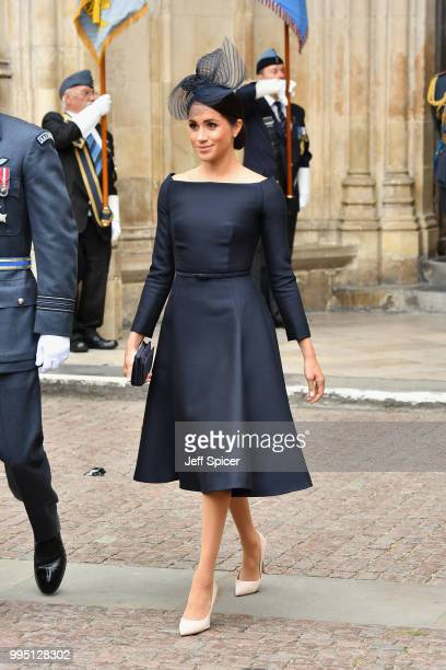 Meghan, Duchess of Sussex attends as members of the Royal Family attend events to mark the centenary of the RAF on July 10, 2018 in London, England.