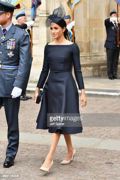 Meghan Duchess of Sussex attends as members of the Royal Family attend events to mark the centenary of the RAF on July 10 2018 in London England