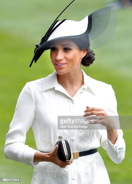 Meghan Duchess of Sussex attends day 1 of Royal Ascot at Ascot Racecourse on June 19 2018 in Ascot England