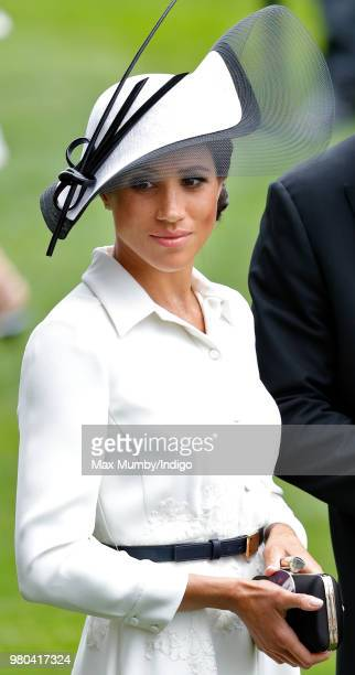 Meghan, Duchess of Sussex attends day 1 of Royal Ascot at Ascot Racecourse on June 19, 2018 in Ascot, England.