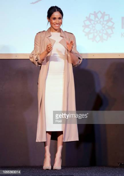 Meghan Duchess of Sussex attends Pillars a charity operating across New Zealand that supports children who have a parent in prison by providing...