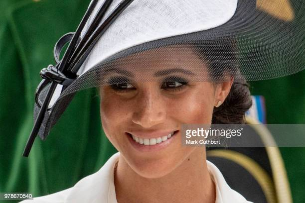 Meghan, Duchess of Sussex attends Royal Ascot Day 1 at Ascot Racecourse on June 19, 2018 in Ascot, United Kingdom.