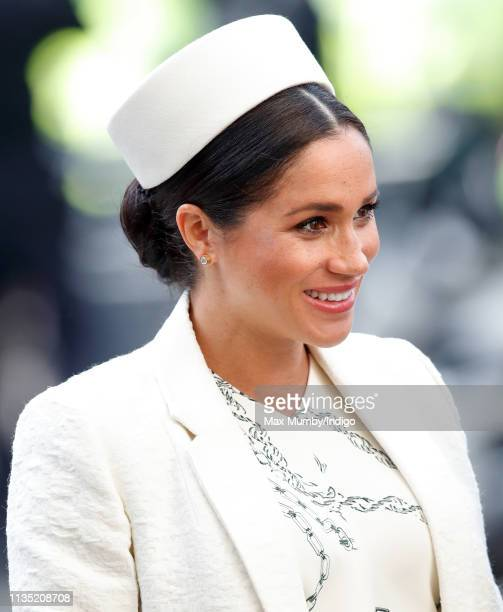 Meghan, Duchess of Sussex attends the 2019 Commonwealth Day service at Westminster Abbey on March 11, 2019 in London, England.