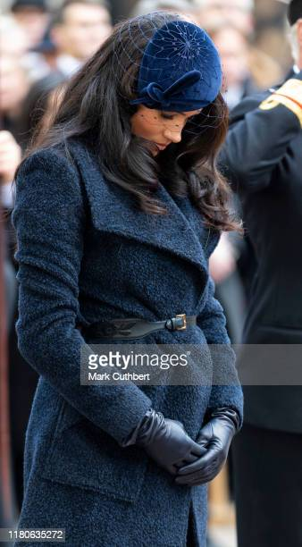 Meghan, Duchess of Sussex attends the 91st Field of Remembrance at Westminster Abbey on November 7, 2019 in London, England.
