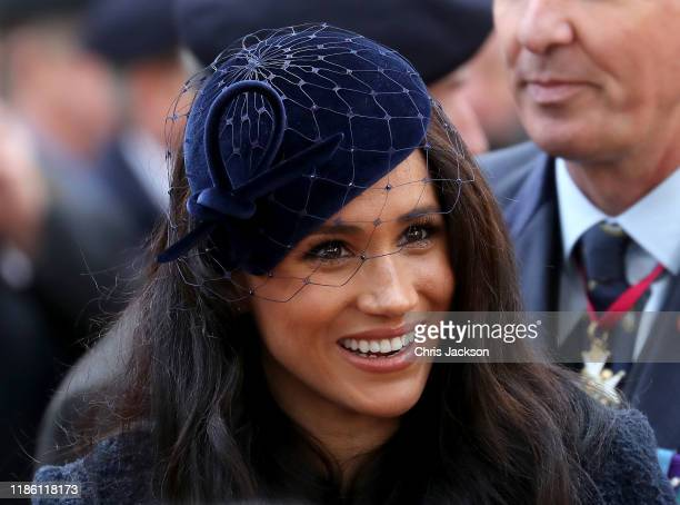 Meghan Duchess of Sussex attends the 91st Field of Remembrance at Westminster Abbey on November 07 2019 in London England